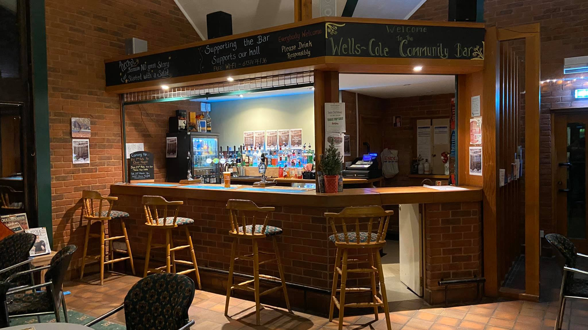 Community Bar open - All welcome @ Bar area
